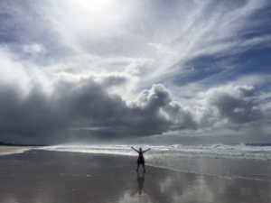Emma on beach